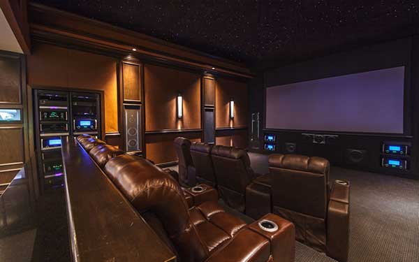 your home theater setup  not pre wired, don't worry we can also help  you wire speakers and tv's while concealing the wiring in the wall or  ceiling